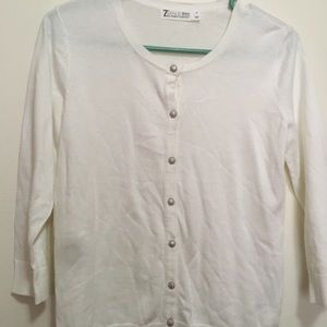 New York and company button up sweater.